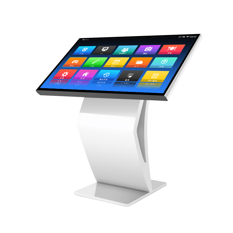 standing display advertising interactive touch screen kiosk